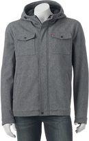 Levi's Men's Softshell Sherpa-Lined Hooded Trucker Jacket