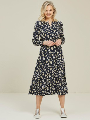 Fat Face Keira Summer Daisy Ditsy Dress - Navy