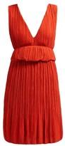 Chloé Plisse-crepe Mini Dress - Womens - Dark Orange