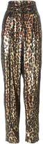 Lanvin metallic leopard trousers - women - Silk/Polyester - 40