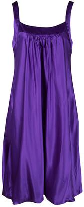 Dolce & Gabbana Purple Silk Satin Sleeveless Balloon Dress S