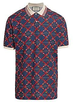 Gucci Men's Belt-Print Polo