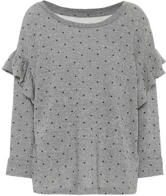 Current/Elliott The Ruffle cotton-blend sweatshirt
