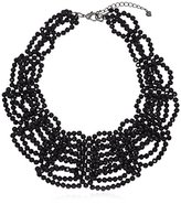 "Carolee Flower District Jet"" Flower District Jet Woven Collar Necklace"
