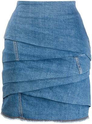 Philosophy di Lorenzo Serafini Draped Denim Skirt