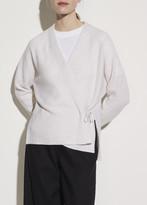 Wool Cashmere Wrap Cardigan