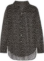 Theory Sunaya Printed Silk-chiffon Blouse - Black