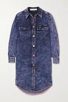 See by Chloe Acid-wash Denim Mini Dress