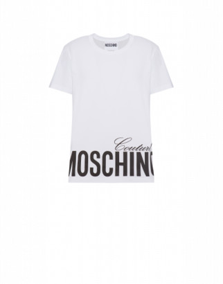 Moschino Jersey T-shirt With Logo Man White Size 44 It - (34 Us)