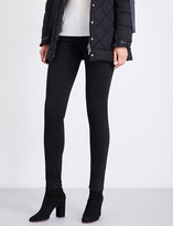 Armani Jeans Sateen-coated skinny mid-rise jeans