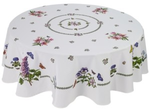 "Avanti Portmeirion Botanic Garden 70"" Round Tablecloth"