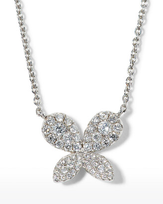 Roberto Coin Tiny Treasures Diamond Butterfly Pendant Necklace