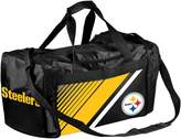 Forever Collectibles Pittsburgh Steelers Striped Duffle Bag