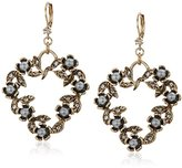 "Betsey Johnson Throwback"" Heart & Bead Drop Earrings"