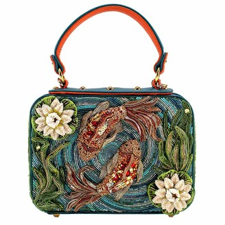 Mary Frances Good Fortune Womens Beaded Top Handle Bag