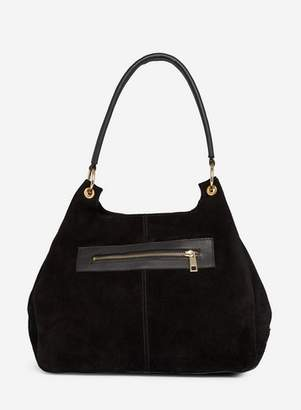 Dorothy Perkins Womens Black Leather Hobo Bag, Black