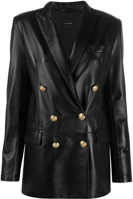 Tagliatore Double-Breasted Leather Jacket