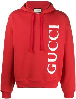 Gucci logo print hoodie