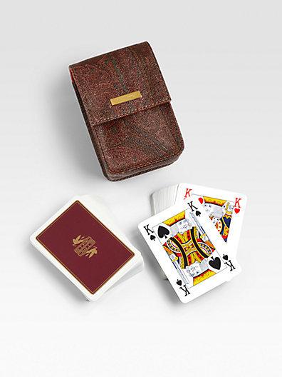 Etro Bugrane Playing Cards, Set of 2