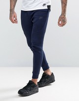 Nike Tech Fleece Drop Crotch Printed Joggers In Blue 836416-408