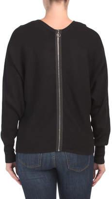 Dolman Sleeve Top With Back Zipper