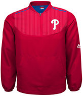 Majestic Boys' Philadelphia Phillies Quarter-Zip Pullover Jacket