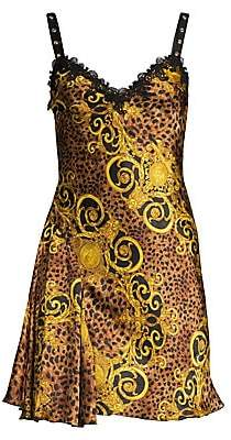 Versace Men's Lady Baroque & Leopard Print Dress
