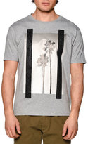 Palm Angels Palm Tree Graphic Short-Sleeve Melange T-Shirt, Gray Multi