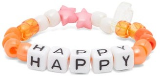LAUREN RUBINSKI Happy Beaded Bracelet - Orange