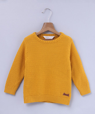 Beebay Boys' Pullover Sweaters Yellow - Yellow Crewneck Sweater - Infant, Toddler & Boys