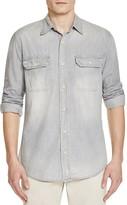Jean Shop Gray Chambray Regular Fit Button-Down Shirt
