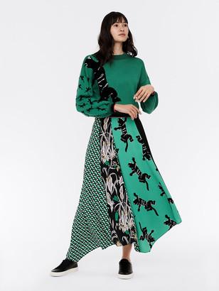 Diane von Furstenberg Jeffrey Crepe Asymmetrical Maxi Skirt
