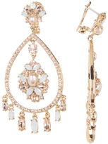 Marchesa Simulated Pearl Orbital Chandelier Earrings