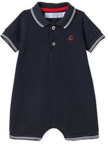 Petit Bateau Baby boys short dungaree in piqué jersey