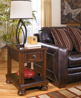 Signature Design by Ashley Rustic Brown Porter End Table