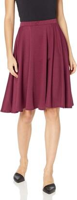 Star Vixen Women's Knee Length Full Skater Skirt