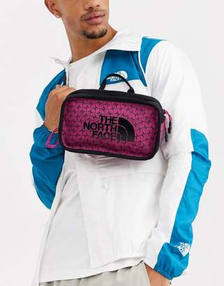 The North Face Explore bum bag in festival pink