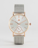 Asos Premium Clean Thick Mesh Strap Watch