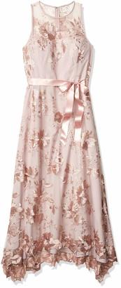 Tahari ASL Women's Sleeveless Sequin Knit Gown