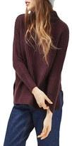 Topshop Petite Women's Oversize Funnel Neck Sweater