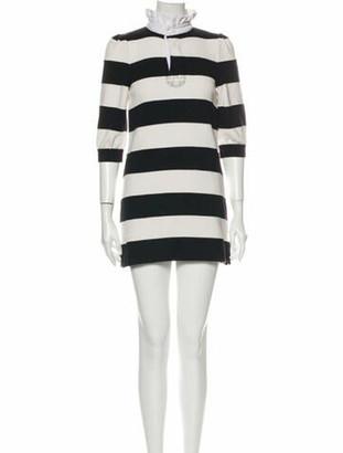 Marc Jacobs Striped Mini Dress Black