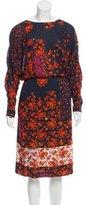 Preen Line Floral Print Midi Dress