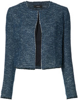 Theory cropped bouclé jacket - women - Cotton/Viscose - 2
