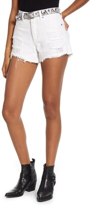 Blank NYC The Barrow Belted Distressed Denim Shorts