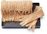 Polo Ralph Lauren Aran-Knit Scarf & Glove Set
