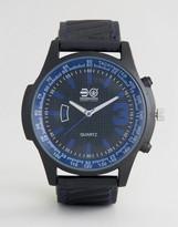 Crosshatch Black Watch With Blue Markings