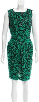 Oscar de la Renta Sequin-Embellished Silk Dress
