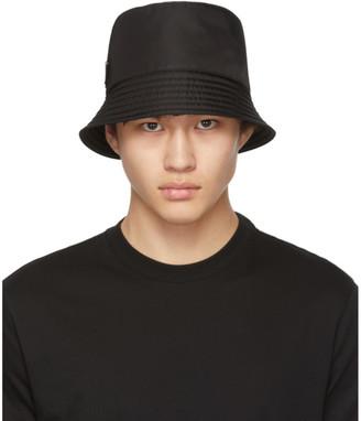Prada Black Triangle Logo Bucket Hat