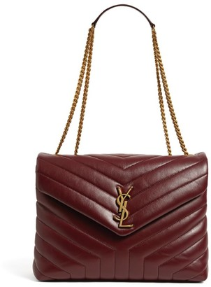Saint Laurent Medium Leather Loulou Matelasse Shoulder Bag