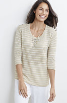 J. Jill Lightweight Striped Easy Pullover
